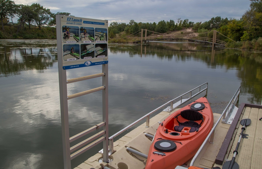 Accessible kayak launch at Marquette Park