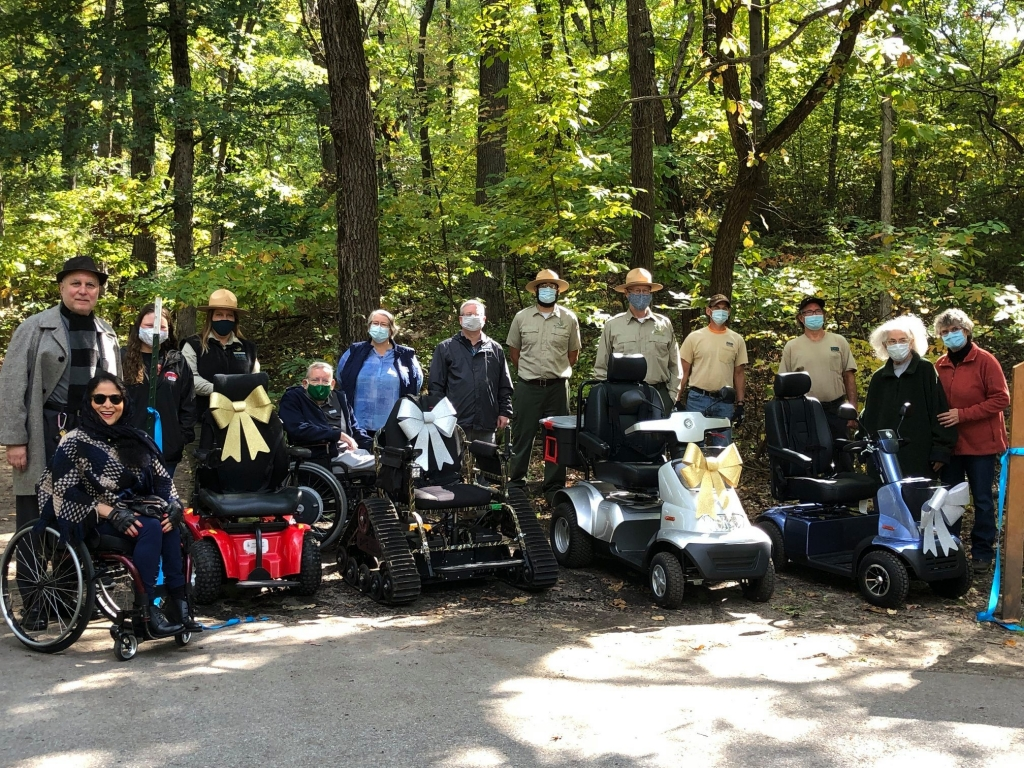 All-terrain wheelchairs at the state park