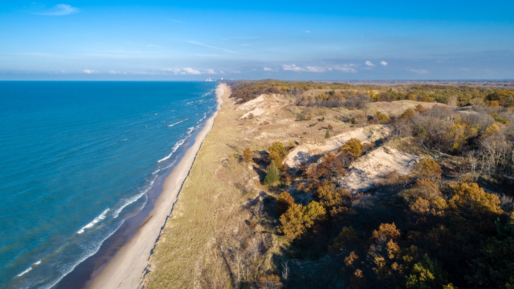aerial view of the dunes