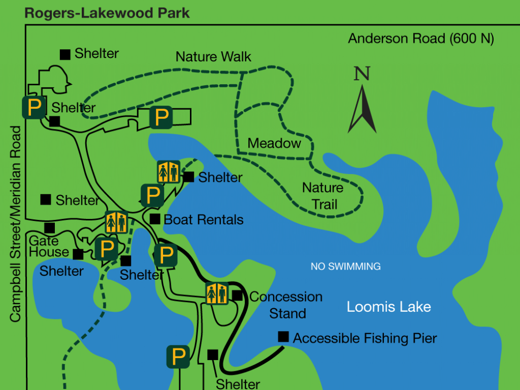 Roger Lakewood trail map