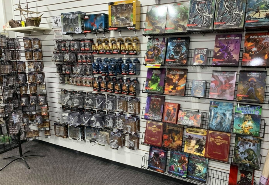 Comic book and game store