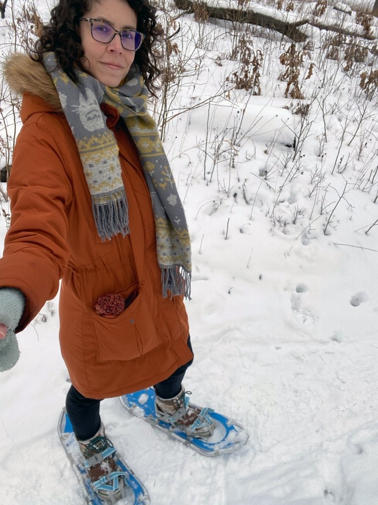 Snowshoeing at the Indiana Dunes